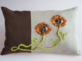 Kudde brun/natur Incomparable Buttons