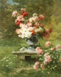Peonies and Roses - Tryckt Motiv A4
