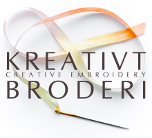 Kudde brun/natur Incomparable Buttons - KREATIVT BRODERI - Creative Embroidery of Sweden
