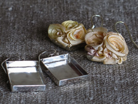 Örhängen/silver - Handgjorda